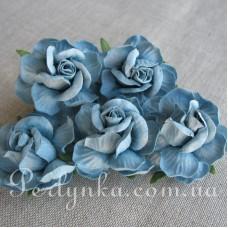 Троянда 4,5см синя