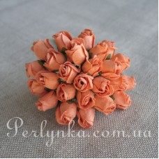 Бутон троянди персиковий 13мм