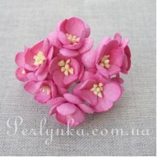 Цвіт вишні 2,5см яскраво рожевий