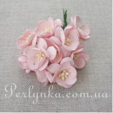 Цвіт вишні 2,5см світло рожевий